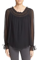 Women's Haute Hippie Silk Peasant Blouse