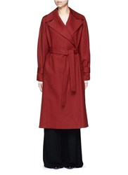 The Row 'Swells' Belted Cotton Coat Red