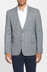 Nordstrom Classic Fit Plaid Sport Coat Black Grey