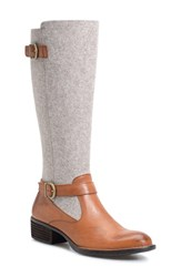 Brn Women's B Rn Oswego Riding Boot Cognac Fabric