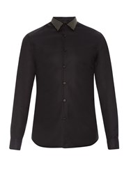 Alexander Mcqueen Studded Collar Button Cuff Cotton Shirt