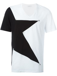 Versace Collection Star Print T Shirt White