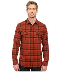 Royal Robbins Valley Performance Long Sleeve Plaid Shirt Cedar Men's Long Sleeve Button Up Brown