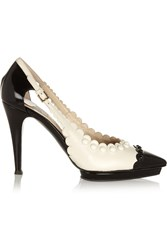 Moschino Studded Leather Pumps Black