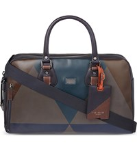 Ted Baker Graffiq Leather Bowling Bag Brown