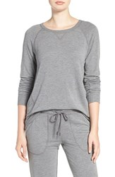 Pj Salvage Women's Crewneck Terry Sweatshirt Heather Grey