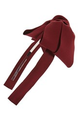 Cara Bow Headband Burgundy
