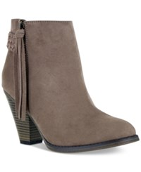 Mia Finnegan Ankle Booties Women's Shoes Taupe