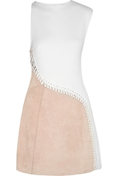 3.1 Phillip Lim Matelassa Cotton And Suede Dress