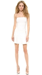 Herve Leger Phoebe Strapless Dress Alabaster