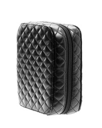 Classic Black Quilted Makeup Planner Petite Trish Mcevoy