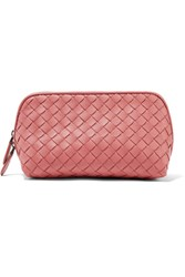 Bottega Veneta Intrecciato Leather Cosmetics Case Pink