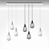 Diesel Living With Foscarini Small Cage Suspension Light White