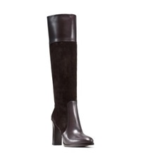 Michael Kors Daryl Leather And Suede Boot Chocolate