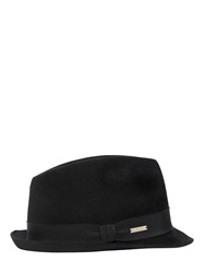 Dsquared Wool Felt Fedora Bowler Hat Black
