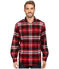 Mountain Khakis Teton Flannel Shirt Cardinal Multi Men's Clothing