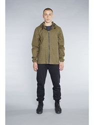Christopher R Burn Remade Raindrop Anorak Olive Green