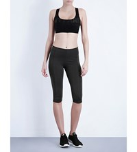 Ivy Park Mid Rise Cropped Jersey Leggings Dark Grey Marl