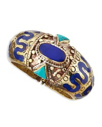 Ahisma Lapis And Turquoise Cuff Devon Leigh Multi Colors