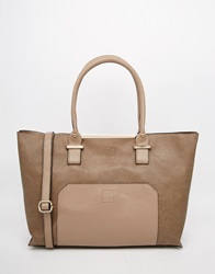 Oasis Shopper In Mixed Fabric Be1beige1