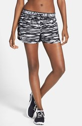 Women's Under Armour 'Play Up' Print Shorts Black White