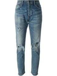 Citizens Of Humanity Distressed Slim Fit Jeans Blue