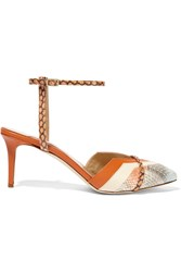 Chelsea Paris Joe Leather And Elaphe Pumps Orange