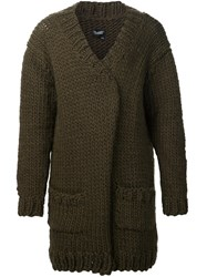 Christopher Raeburn Hand Knit Oversized Cardigan Green