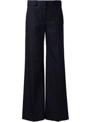 The Row Wide Leg Trousers Blue