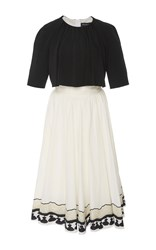 Rossella Jardini Fifties Style Fit And Flare Printed Dress Black
