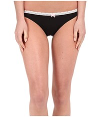Betsey Johnson Bridal Lace Up Sheer Marquisette Bikini J0027 Black Women's Underwear