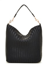 Deux Lux Mulberry Woven Slouch Hobo Black