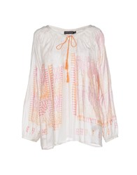 Antik Batik Shirts Blouses Women Orange