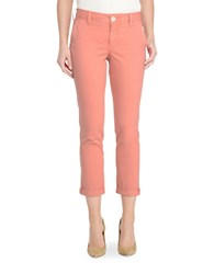 Nydj Cropped Chino Pants Coral Spice