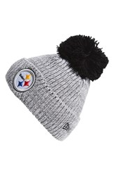 Men's New Era Cap 'Cuff Star Pittsburgh Steelers' Pompom Knit Beanie