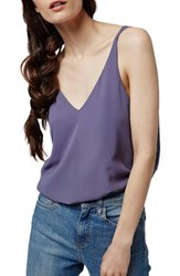 Women's Topshop Double Strap V Back Camisole Charcoal