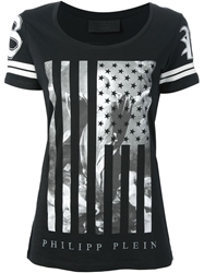 Philipp Plein Flag Print T Shirt White