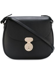 Giorgio Armani Saddle Sling Crossbody Bag Black