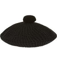 Gucci Pure Cotton Beret Hat Blk