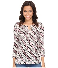 Lucky Brand Tribal Rhythm Top Nigori Multi Women's Blouse
