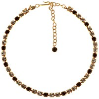 Alice Joseph Vintage 1980S Trifari Gold Plated Diamante Necklace Black Clear