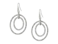 Guess Double Pave Ring Drop Earrings Silver Crystal Earring