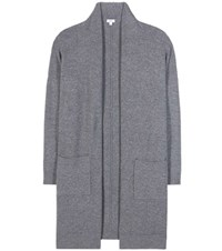 Vince Wool And Cashmere Blend Cardigan Grey