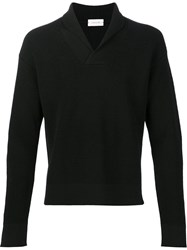 Christophe Lemaire V Neck Jumper Black