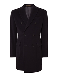 Richard James Double Breasted Coat Navy