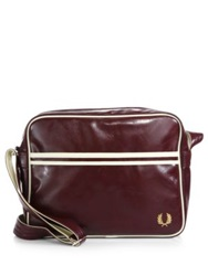 Fred Perry Classic Shoulder Bag Maroon Black