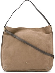 Hogan Hobo Tote Bag Nude And Neutrals