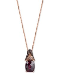 Le Vian Chocolatier Rhodolite Garnet 3 1 8 Ct. T.W. And Diamond 3 10 Ct. T.W. Pendant Necklace In 14K Rose Gold