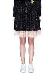 Chictopia Layered Guipure Lace Skirt Black