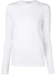 T By Alexander Wang Long Sleeve T Shirt White